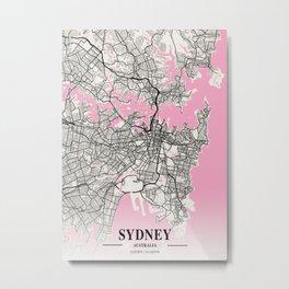 Sydney - Australia Neapolitan City Map Metal Print