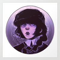 goth Art Prints featuring shoujo goth by Frank Odlaws