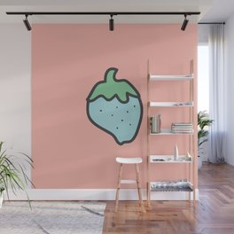 Cotton Candy Strawberry Wall Mural