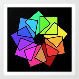 moving squares -01- Art Print