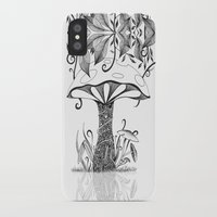 mushroom iPhone & iPod Cases featuring Mushroom by ink10 Designs