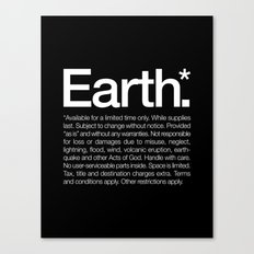 Earth.* Available for a limited time only. Canvas Print