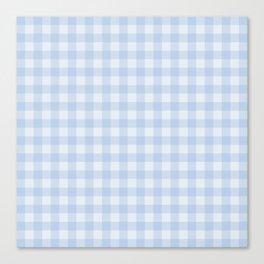 Gingham Pattern - Blue Canvas Print