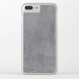 Textured Gray Clear iPhone Case
