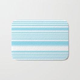 Sky Blue and White Stripes Bath Mat