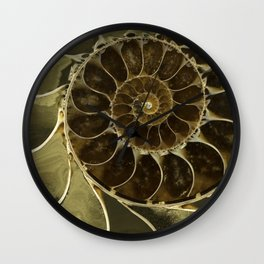 Fossil in brown tones Wall Clock
