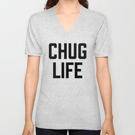 Chug Life in White Unisex V-Neck