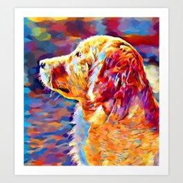 Golden Retriever 8 Art Print