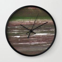Dark liver abstract watercolor Wall Clock