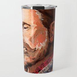 Willie Nelson Acrylic Painting Travel Mug
