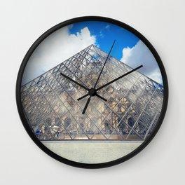 glass pyramid Wall Clock