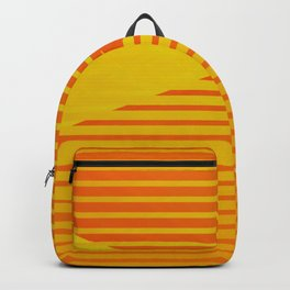 Yellow stripes and balls ... Backpack