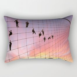 Brooklyn Bridge Painters Quitting Time Rectangular Pillow