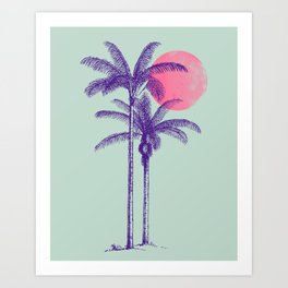 noche tropical Art Print