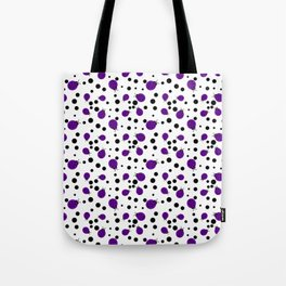 Purple Ladybugs and Black Dots Tote Bag