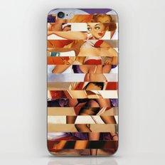 Glitch Pin-Up Redux: Amber iPhone & iPod Skin
