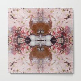 Cherry Blossom Boho Metal Print