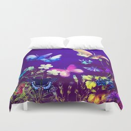 Night Butterflies Duvet Cover