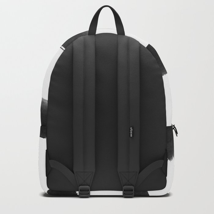 Black and White Brush Strokes Backpack