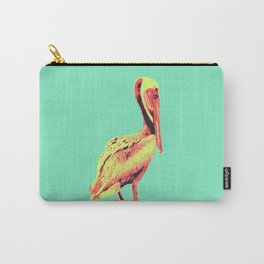 Painted Pelican Pop Art Carry-All Pouch