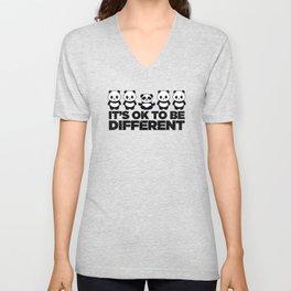 Okay To Be Different Panda Unisex V-Neck