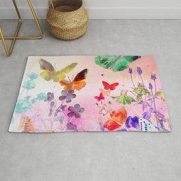 Blush Butterflies & Flowers Rug