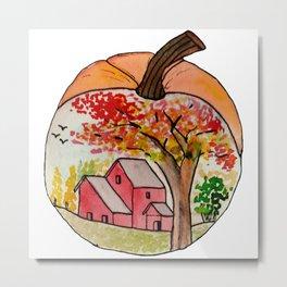 Fall Autumn in a Pumpkin Metal Print