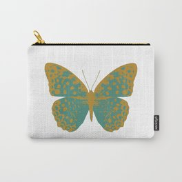 Teal Butterfly Carry-All Pouch