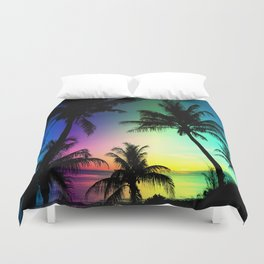 California Palm Trees Dream Duvet Cover