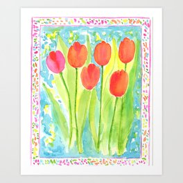 Be Bold Tulips Art Print