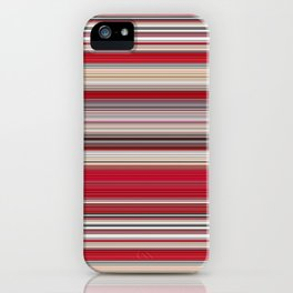 Modern Red Tan Line Decor iPhone Case