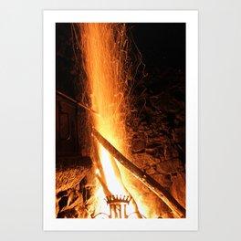 Fire 2 Art Print