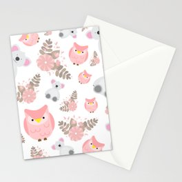Pink Cuties Stationery Cards