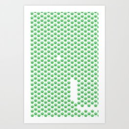 Cannibis All Over Art Print