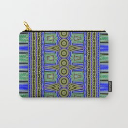Modern African Geometric Textile Carry-All Pouch