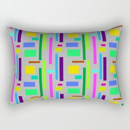 Unisex pattern with vibrant Colours in squares and rectangles. Rectangular Pillow