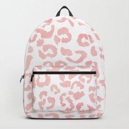 Blush pink modern leopard pattern watercolorpattern Backpack