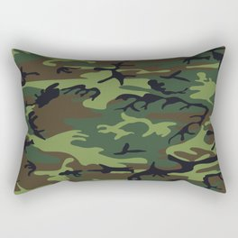 Army Camouflage Rectangular Pillow