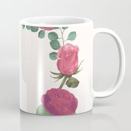 Pink Floral Wreath Coffee Mug
