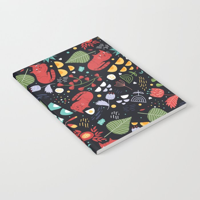 cats and flowers Notebook