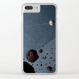 space trojan asteroids Clear iPhone Case