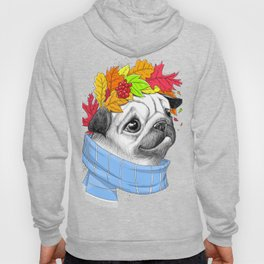 Autumn pug #2 Hoody