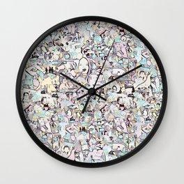 Crowd - Pale Wall Clock