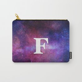 Monogrammed Logo Letter F Carry-All Pouch