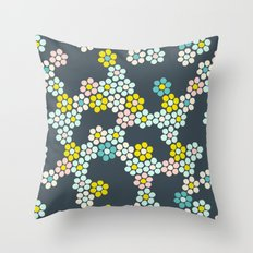 Flower tiles Throw Pillow