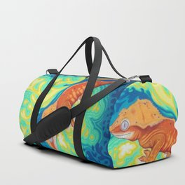 Red Crested Gecko Duffle Bag