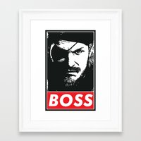 metal gear solid Framed Art Prints featuring Big Boss - Metal Gear Solid by TxzDesign