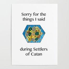 Catan, Settlers of Catan, Board Game, Geek Art, Nerd Art Poster