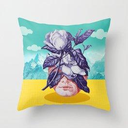 hidden face Throw Pillow