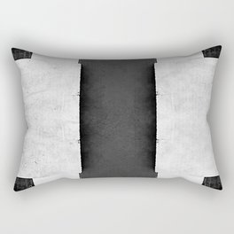 Geometric Merz - Black White Retro Dadaism Rectangular Pillow